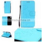 RF Manufacturer Wholesale Book Card Holders Stand Wallet Flip Leather Back Cover for HTC One V Mobile Phone Case