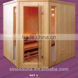Europe Hot Selling 4-6 Person Dry Sauna Room with with FSC Wood and Culture Stone(CE/ISO/TUV/FSC/ETL/RoHS)