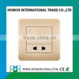 wholesale factory price wall socket 1 gang 13A BS standard wall switched socket