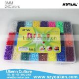 2014 new toys children funny puzzle toys 24 colors/box 193000 perler beads for bracelets & jewelry