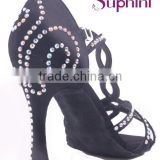 283 beautiful color with crystal stone comfortable and fashionable ladies latin salsa dance shoes