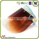 Transparent PVC jelly multicolor sun visor hats,car door sun visor
