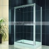 Double Sliding Doors Aluminum Frame Stable 8mm Glass Retangular Shower Cabin (KDS-PM02-2)