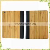 New Products Flip Leather Case Wood Bamboo Cover case for iPad Air 2 With Stand Design Made in China