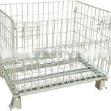 widely used wire mesh container,Foldable Mesh Box Pallet