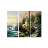 Wall art home decor canvas painting 3 panel Thomas Kinkade Canvas Prints Modern Oil Painting Pictures Framed