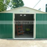 10x12ft commercial cream metal shed