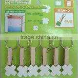 small craft Wood Cloth Peg with iron ring manufator
