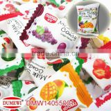 jelly filled chewing candy ball milk flavor
