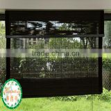 black thin bamboo sticks window shutter/home shades/ curtain