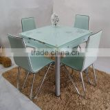 new model glass top dining table extendable / extendable dining table with glass LS-E80