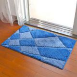 Flocking mats temperament blue water carpet living room foyer entrance mats absorbent non-slip bath mat