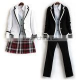 OEM TC and cotton woven fabric adult school uniforms