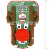 Reindeer Antlers and Red Nose Christmas Car Decoration Accessary