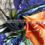 scrawl pritting fabric modal material jersey knitted fabric