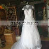 Modern Beautiful Back Court Train High Neck wedding dress bridal gown P103
