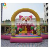 2016 happy kids children game inflatable fun city/big cat themed inflatable kids playground