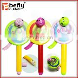 Lollipop shape hand fan plastic candy filled toys