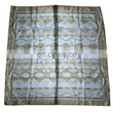 New design cusome high quality polyester satin square scarf