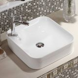 2018 wholesale new good sale ceramic thin square white easy clean top quality wash basin with single hole