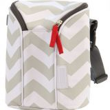 Chevron printed 2 bottle tote diaper bag for baby