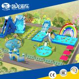 Inflatable Indoor playground water park inflatable water slide with swimming pool