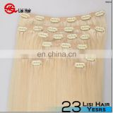 big discount 160g 180g 200g wholesale double drawn virgin remy cheap clip in braided extensions hair blonde