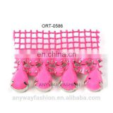 High quality pink rhinestone mesh accessories