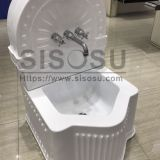 Square foot bath wudu basin