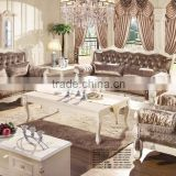 Luxury French Baroque Sofa Design Classic Furniture Living Room Sofa Fabric Sectional Sofa