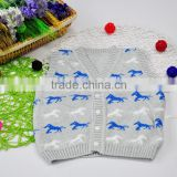 Knit Sweaters Horse Pattern Knitting Cotton T-Shirt Vests with Buttons