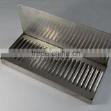 "Stainless Steel Drip Tray, NO drain tube, 12"" Wide; 6"" Back Splash, For Beer Tower, Home brew"