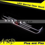 AKD Car Styling K3 LED Moving Door Scuff Cerate LED Door Sill plate 2013-2014 K3 Side Step Cover Pedal