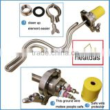 "Stainless Steel electric brewing supply,240V 5500W Ripple Heating Element,conversion plate,1.5"" tri-clamp,wire protector"