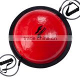 high quality 58cm balance half ball bosu ball balance fitness equipment yoga ball with expander and air pump