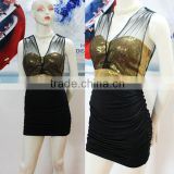 Mesh Contast Sexy Sequin black bodycon dress www sex.photos com