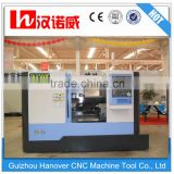 CKX500F China metal working turning machine bench lathe machine with 8/12 station hydraulic tool turret and 10'' chuck