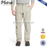 Wholesale Factory Mens Zip Off Convertible Cargo Hiking Pants