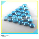 Hot Fix Metallic Rhinestuds Turquoise Round Flatback Ss6 2mm 600 Gross Package