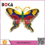 BOKA embroidery big colorful butterfly patch factory direct sell