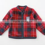 Japanese wholesale products cute baby cloth jacket check pattern for winter infant wear children garment kids clothing