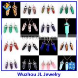 Fashion 2015 quartz crystal point pendants prism crystal pendant hexagon prism pendant for gift