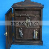 Hot sale customized wooden wall hanging key box,metal lock for wooden box,hanging lock box for keys,key lock box for hotel use