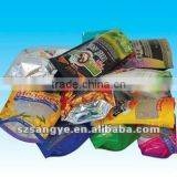 stand up pouch with zipper for frozen seafood/ zipper bag stand up pouch/stand up zipper pouch