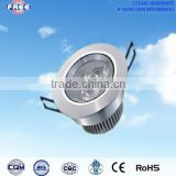 3w LED ceiling light component aluminum alloy round environmental,wilely used for shopping mall,hotel,household,supermarket