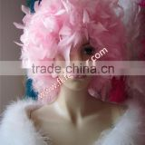 Wholesale Craft Chandelle Boa Feather Hair Extensions Turkey Feather Hat For Female Party Hat