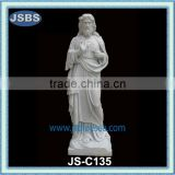 Carved white marble Jesus statue