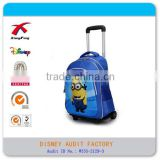 Minions despicable me child school trolly bag backpack