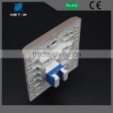 With PVC, ABS cable materials one port 120 type rj45 network faceplate/face plate with 1 2 3 4 6 port