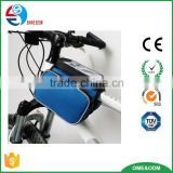 Hot Sale Motorcycle Bike Smart Phone Holder/Waterproof 600D Bike Front Top Frame Handlebar Phone Bag